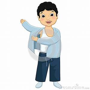 Boy Wearing Pajamas Vector Illustration Stock Vector ...
