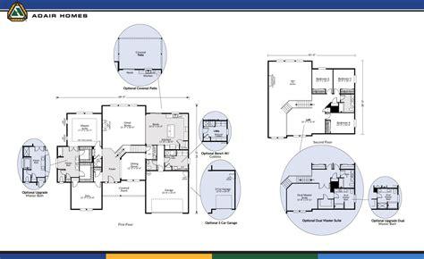 Adair Homes 2160 Floor Plan by Adair Homes The Cascades 3495 Home Plan