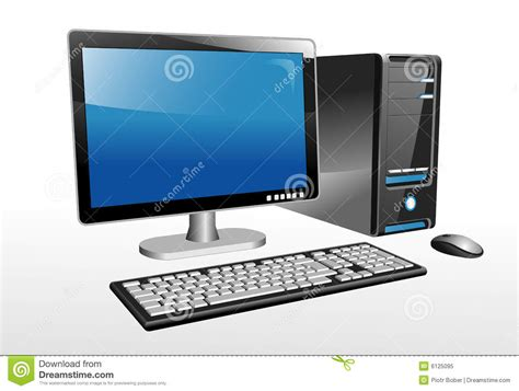 ordinateur de bureau lg desktop computer stock vector image of display panel