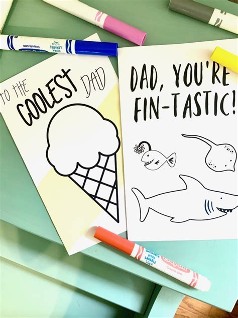 For other uses, see father s day (disambiguation). Father's Day Cards Free Printables to Color - Six Clever ...