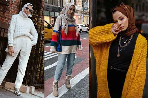 hijab hiver   styles de hijab chic pour  hiver