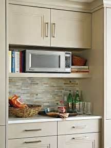 faux brick backsplash in kitchen wood wall mounted microwave storage cabinet painted with white interior color plus false