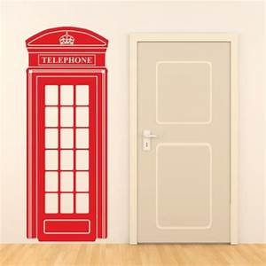 Telephone Mural Vintage : london telephone box wall sticker retro uk phone decal mural art vinyl decor in wall stickers ~ Teatrodelosmanantiales.com Idées de Décoration