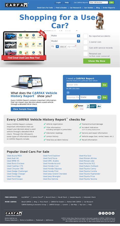 luxury carfax competitors  cars