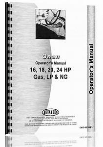 Linamar Lx720  Lx770  Lx790  Lx990 Onan Engine Operators