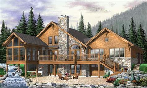 Hillside House Plans with Walkout Basement Modern Hillside