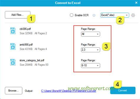 pdf to xls converter application