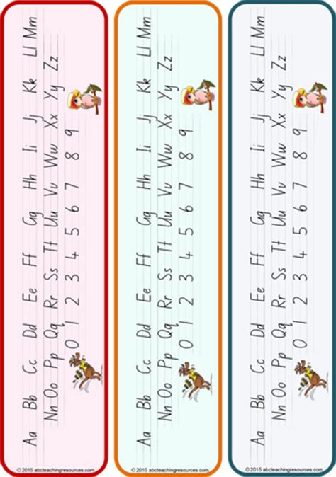 year  handwriting letter formation table cards nsw