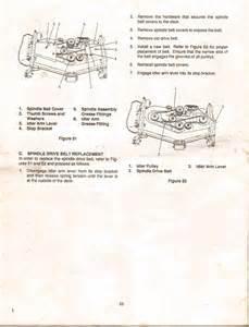 Cub Cadet Mower Deck Belt Problems by Mower Deck Belt Coming On Cub Cadet 1045 Tractors