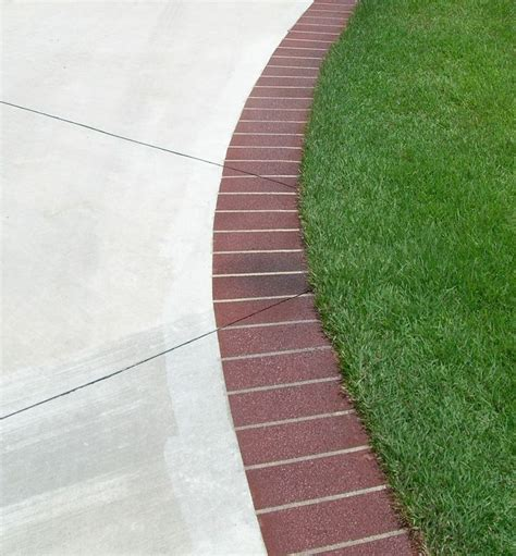 add a brick edge to our concrete patio home
