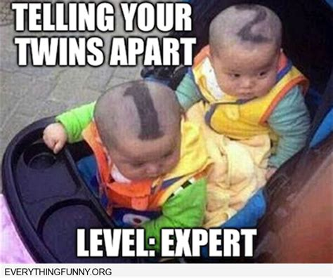 Twin Memes - funny captions twins 1 and 2 haircut funny pinterest funny funny captions and twin