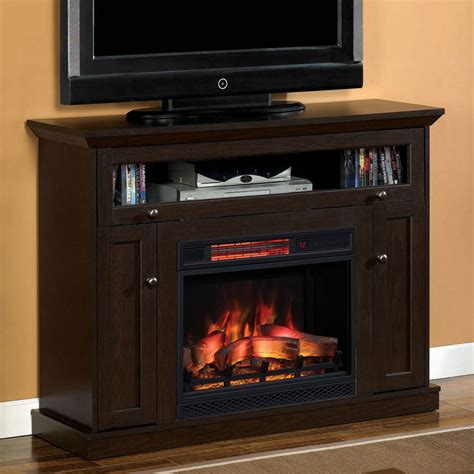 entertainment system with fireplace 46 25 oak espresso entertainment center electric 7069