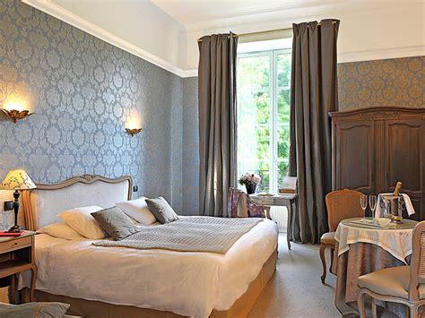 chambre dans chateau hôtel 4 étoiles château de bellefontaine à bayeux dans le