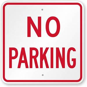 large no parking signs custom stock templates With no parking signs template