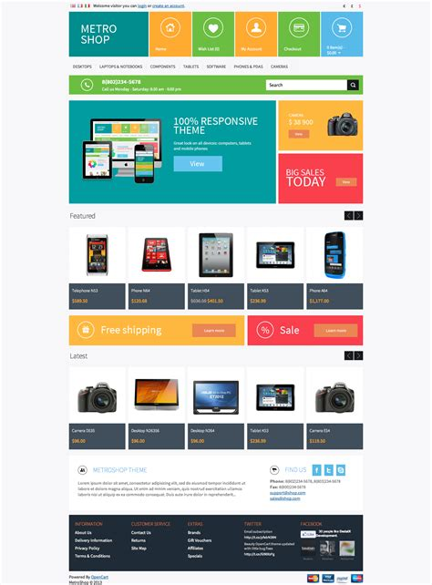opencart templates metroshop premium opencart theme by dedalx themeforest