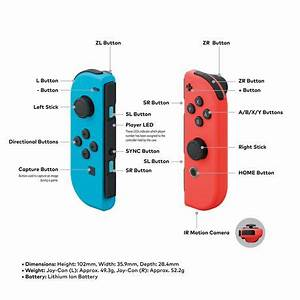 Nintendo Switch Console with Neon Blue and Neon Red Joy