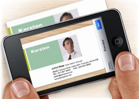 Managing Business Cards With A Smartphone