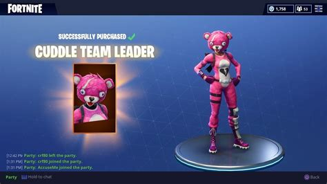 cuddle team leader outfit gameplay fortnite battle
