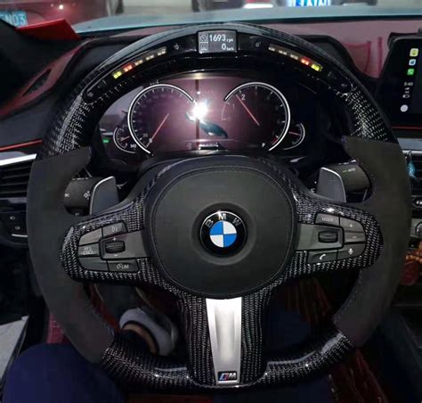 bmw performance led digital carbon fiber steering