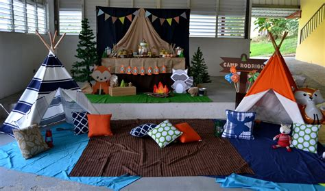 partylicious  pr woodland camping birthday