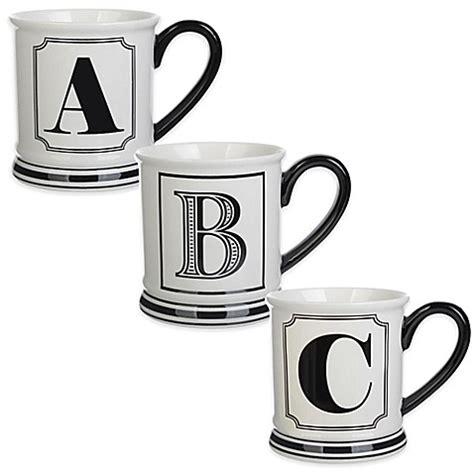 formations block letter monogram mug www