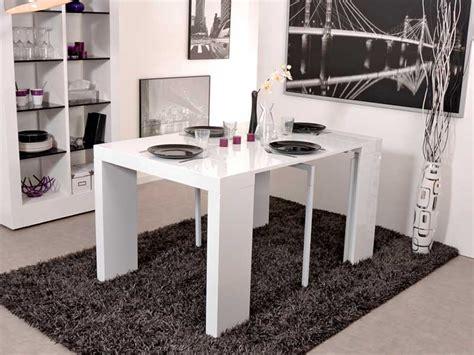 promo cuisines table console extensible algo blanc brillant