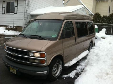 car maintenance manuals 1998 chevrolet express 1500 user handbook find used chevy 1500 express conversion handicap van low miles wheelchair lift in fort lee new