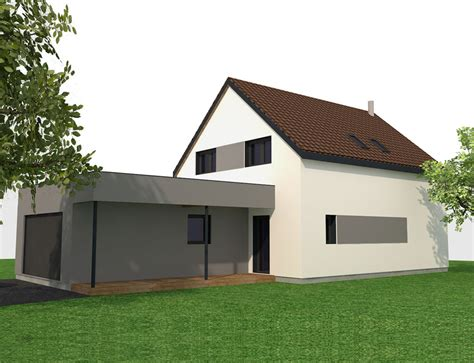 maison moderne 224 ossature bois nos projets maison 2 pans
