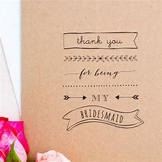 'thank You For Being My Bridesmaid' Card By Paper Craze Notonthehighstreetcom