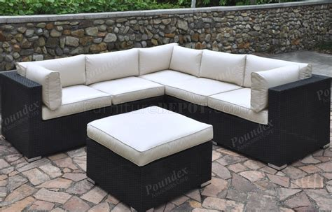 425 outdoor patio 6pc sectional sofa set by poundex w options