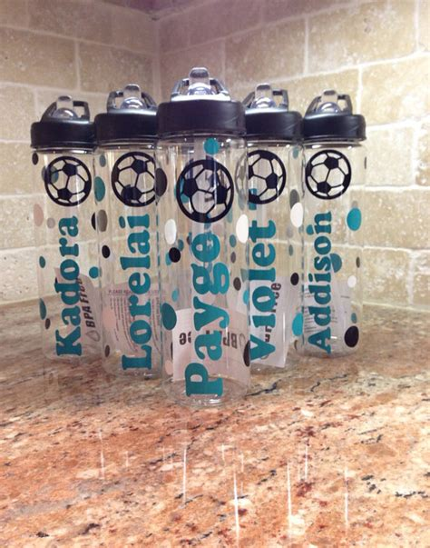 best gifts for soccer fans personalized soccer bottles team gifts by atozvinylcreations