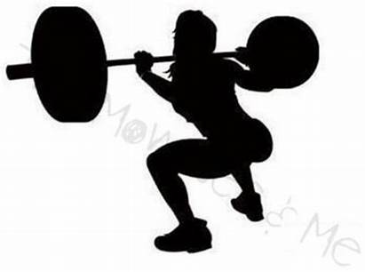 Lifting Squats Weights Clipart Woman Weight Fitness