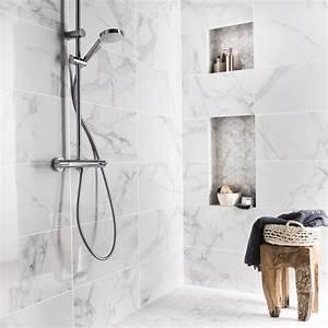 Moquette Salle De Bain : fa ence mur blanc carrare murano x cm leroy ~ Dailycaller-alerts.com Idées de Décoration