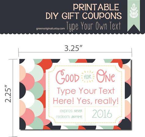 gift coupon printable