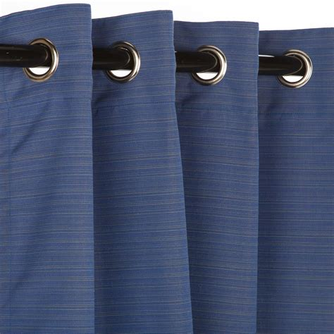 sunbrella outdoor curtain with nickel grommets dupione