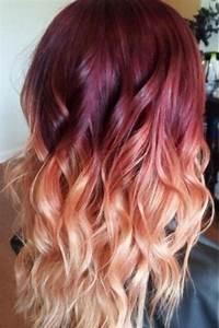 Ombré Hair Auburn : red violet peach ombre hair auburn ombre georgian sunset ombre hair ~ Dode.kayakingforconservation.com Idées de Décoration