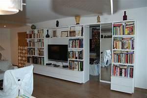 Meuble TV Bibliothque Contemporaine L39Art Du Rangement