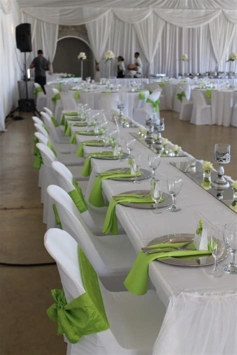 wedding decorations in green and white lime green and white wedding decorations