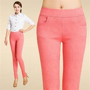 Fashion fit jacquard young lady candy pant trousers - TiaNex