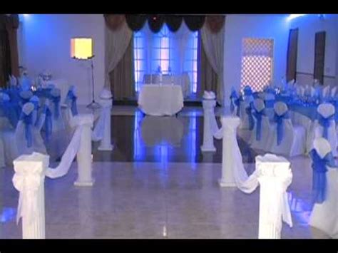 beautiful indoor wedding ceremony and reception by fusion banquet