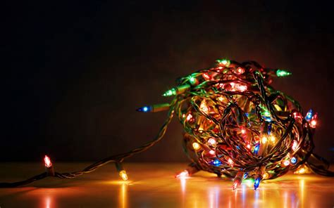 free cool christmas lights computer desktop wallpaper