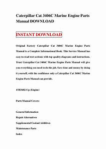 Caterpillar Cat 3406 C Marine Engine Parts Manual Download