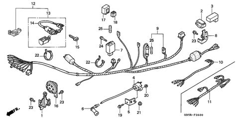 wire harness for 1997 honda c90 c90 cub total km h sales region 11063310 707121