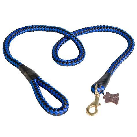 nylon cord dog leash  walking  training dog leash info