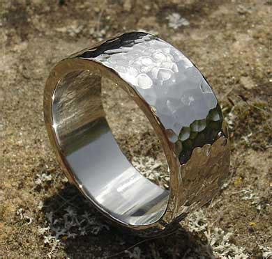hammered stainless steel wedding ring love2have in the uk