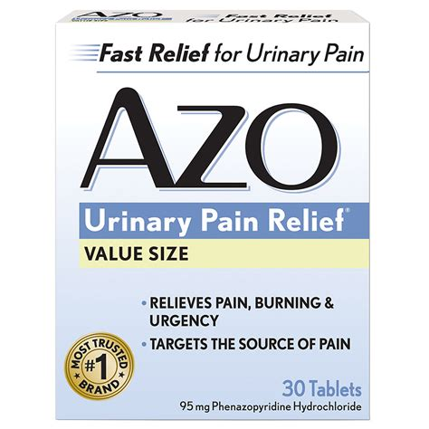 66153 Azo Urinary Relief Coupon by Azo Standard Urinary Relief Tablets Walgreens