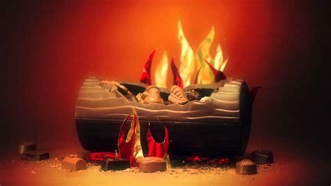 chocolate burning yule log
