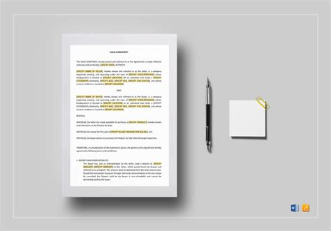 job contract templates  word  documents