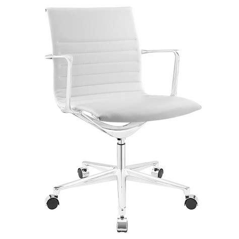 white modern desk chair vanguard modern white office chair eurway