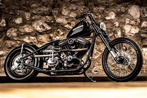 Back In Black. Lucky Customs' 'rock'n'rolla' Evo Harley